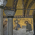 The Deesis Mosaic At Hagia Sophia by Ayhan Altun