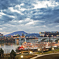 The Delta Queen And Coolidge Park At Dusk by Steven Llorca