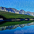 The Desiderata And Lake Sherburne by Greg Norrell