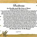 The Desiderata Poem Surrounded By Tropical Bamboo by Desiderata Gallery