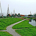 The Dike In Enkhuizen-netherlands by Ruth Hager