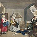 The Distressed Poet, Illustration by William Hogarth