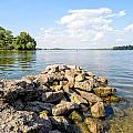 The Dnieper River In Kiev by Alain De Maximy