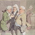 The Doctors Consultation, 1815-1820 Pen And Ink And Wc Over Graphite On Paper by Thomas Rowlandson