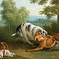 The Dog Carring His Dinner To His Master by Jean-Baptiste Oudry