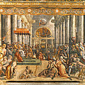 The Donation Of Rome. by Raphael