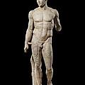 The Doryphoros Of Polykleitos by Roman School
