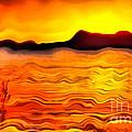 The Dream Landscape On Balaton Lake by Odon Czintos