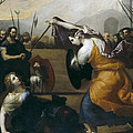 The Duel Of Isabella De Carazzi And Diambra De Pottinella by Jusepe de Ribera