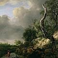 The Dunes Near Haarlem by Jacob Isaaksz. or Isaacksz. van Ruisdael