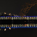 The East Falls Bridge At Night - Philadelphia by Bill Cannon