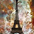 The Eiffel Tower - Paris France Art By Sharon Cummings by Sharon Cummings