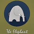 The Elephant Cute Portrait by Florian Rodarte