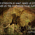 The Elephant - Inner Strength by Absinthe Art By Michelle LeAnn Scott