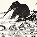 The Elephant's Child Having His Nose Pulled By The Crocodile by Joseph Rudyard Kipling
