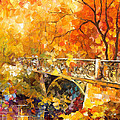 The Embassay Of Autumn - Palette Knife Oil Painting On Canvas By Leonid Afremov by Leonid Afremov