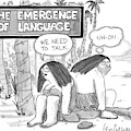 The Emergence Of Language Cave Woman: 'we Need by Leo Cullum
