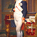 The Emperor Napoleon In His Study At The Tuileries By Jacques Louis David by Cora Wandel
