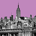 The Empire State Building Pantone African Violet by John Farnan