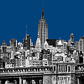 The Empire State Building Pantone Blue by John Farnan