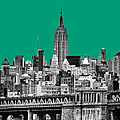 The Empire State Building Pantone Emerald by John Farnan