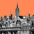The Empire State Building Pantone Nectarine by John Farnan