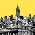 The Empire State Building Pantone Yellow by John Farnan