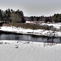 The End Of Winter On The Moose River by David Patterson