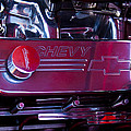 The Engine In A 1956 Chevy Bel Air Custom Hot Rod by David Patterson