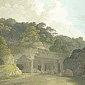 The Entrance To The Elephanta Cave by Thomas & William Daniell