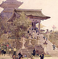 The Entrance To The Temple Of Kiyomizu Dera Kyoto by Sir Alfred East