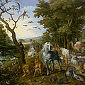 The Entry Of The Animals Into Noahs Ark by Jan Brueghel the Elder