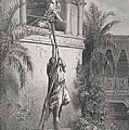 The Escape Of David Through The Window by Gustave Dore