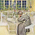 The Evening Before The Journey by Carl Larsson