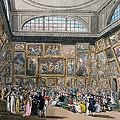 The Exhibition Room At Somerset House by Pugin and Rowlandson