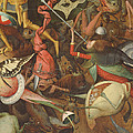 The Fall Of The Rebel Angels, 1562 Oil On Panel Detail Of 74037 by Pieter the Elder Bruegel