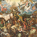 The Fall Of The Rebel Angels, 1562 Oil On Panel by Pieter the Elder Bruegel