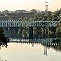 The Falls Bridge Over The Schuylkill River by Bill Cannon
