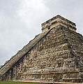 The Famous Kulkulcan Pyramid At Chichen Itza by For Ninety One Days