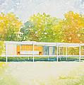The Farnsworth House by Sandra Neumann Wilderman