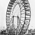 The Ferris Wheel At The Worlds Columbian Exposition Of 1893 In Chicago Bw Photo by American Photographer