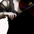 The Fiddle Player In Violin Concerto A Minor Grunge by Steven Digman
