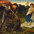 The Fight. St George Kills The Dragon Vi by Edward Burne-Jones