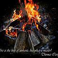 The Fire by Davandra Cribbie