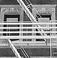 The Fire Escape In Black And White by Rob Hans