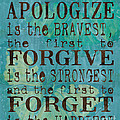 The First To Apologize by Debbie DeWitt