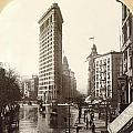 The Flatiron Building In Ny by Underwood Archives