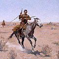 The Flight by Frederic Remington