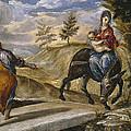 The Flight Into Egypt by El Greco