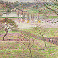 The Flood At Eragny by Camille Pissarro